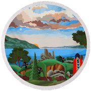 From A High Place, Troubles Remain Small Round Beach Towel