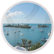 From Annettes Place Round Beach Towel