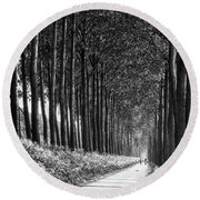 From Bruges To Dam Round Beach Towel