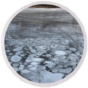 From Bubbles To Mountains Round Beach Towel