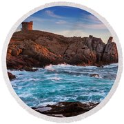 From Corsica Round Beach Towel