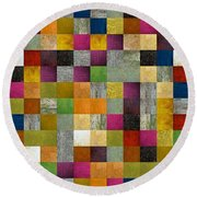 From Fence To Feast Panel Sketch Round Beach Towel
