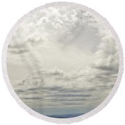 From Heaven To The Mountains Round Beach Towel