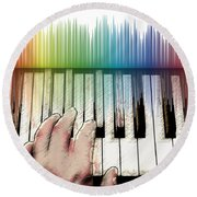 From Keyboard To Keyboard Round Beach Towel