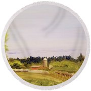 From Linden Row Round Beach Towel