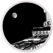 From Paris With Love Round Beach Towel