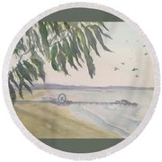 From Park To Pier Round Beach Towel