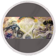 From Revelations To Transformation Round Beach Towel