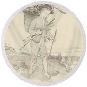 From Rudolf Hirth Frenes 1846 Grafentonna   Miltenberg 1916 Young Reisigsammlerinnen Round Beach Towel