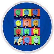 Trump From Russia With Love Round Beach Towel
