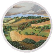 From Solsbury Hill Round Beach Towel by Anna Teasdale