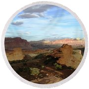 From Sunset Point 2 Round Beach Towel