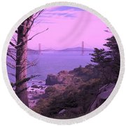 From The Cliff Of  Lands End 06 Round Beach Towel