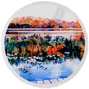 From The Dock Round Beach Towel