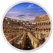 From The Floor Of The Colosseum Round Beach Towel