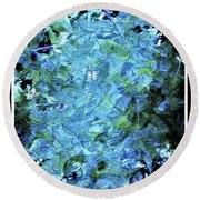 From The Glory Of Trees Abstract Round Beach Towel