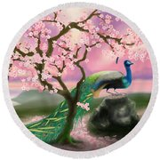 From The Heart Round Beach Towel