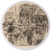 From The Jewish Quarter In Amsterdam: Fishmarket On The Street Corner Round Beach Towel