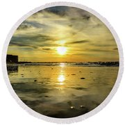 From The Surface Round Beach Towel