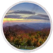 From The Top Of Brasstown Bald Round Beach Towel
