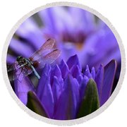 From The Water Lily Garden Round Beach Towel