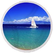 Maui Hawaii Frommer's 2000 Maui Cover Round Beach Towel