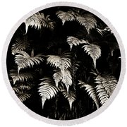 Fronds Round Beach Towel