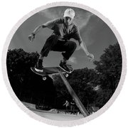 Front Board Jam Round Beach Towel