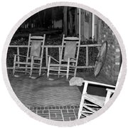 Front Porch Round Beach Towel