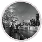 Front Row Roosevelt Island Round Beach Towel