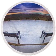 Front Row Seat Round Beach Towel