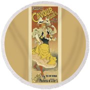 Frossards Cavour Cigars Vintage French Advertising Round Beach Towel