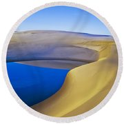 Frost And Ephemeral Pool Round Beach Towel