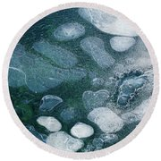 Frosted Bubbles Round Beach Towel