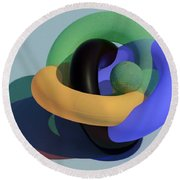 Frosted Glass Toruses Round Beach Towel