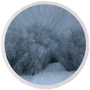 Frosted Moon Round Beach Towel