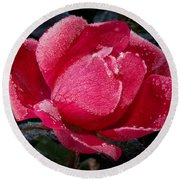 Frosted Rose Round Beach Towel