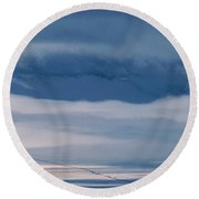 Frosted San Luis Valley - Colorado Round Beach Towel
