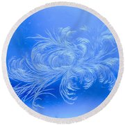 Frosty Flower Round Beach Towel