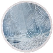 Frozen Bubble Round Beach Towel