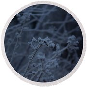 Frozen Buds Round Beach Towel