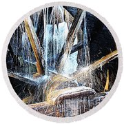 Frozen - John P. Cable Grist Mill Round Beach Towel