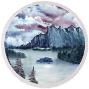 Frozen River Round Beach Towel