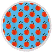 Fruit 01_orange_pattern Round Beach Towel