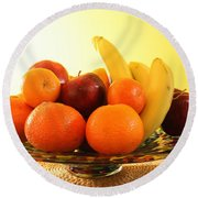 Fruit Arrangement Round Beach Towel