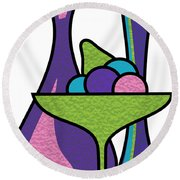 Fruit Compote Round Beach Towel