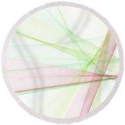 Fruit Computer Graphic Line Pattern Round Beach Towel
