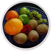 Fruit Dish Round Beach Towel