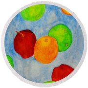 Fruit Drops Round Beach Towel