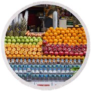 Fruit Just Stand Round Beach Towel